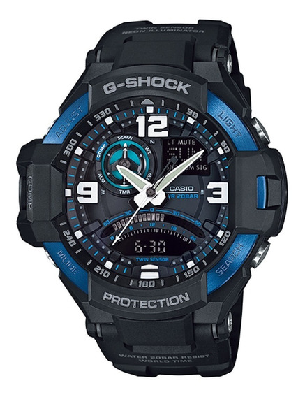 Relógio Casio G-shock Gravitymaster Ga-1000-2b Masculino
