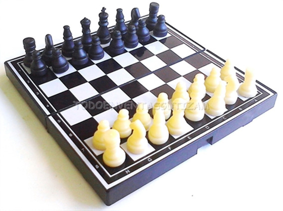 3 Ajedrez Magnetico Pequeño 13x13 Cm Damas Chinas Chess Set