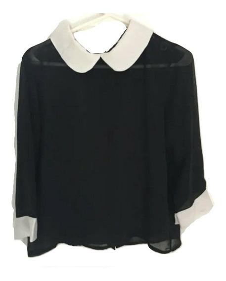 Camisa Blusa Delaostia Negra Talle 1