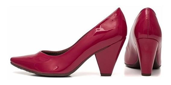 Sapato Feminino Verniz Vermelho Piccadilly Scarpin 754001