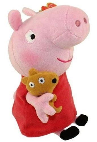 Imagem 1 de 4 de Peppa Pig Pelúcia 30cm Peppa Com Ursinho Original 4536