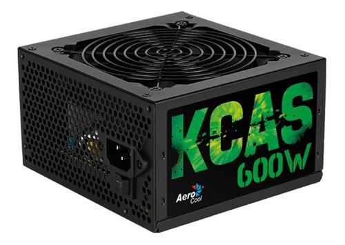 Fuente Gamer Aerocool Kcas 600w 80 Plus Bronze Full Range