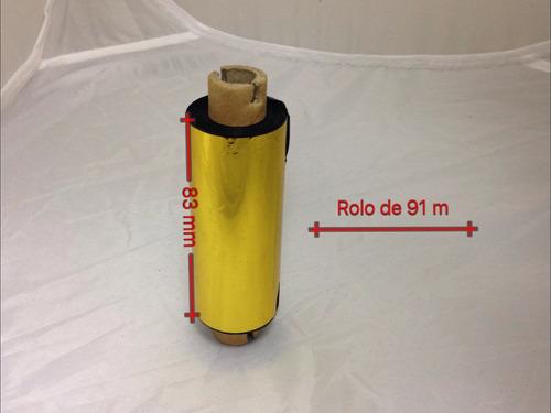Ribbon Dourado 83mm X 91metros