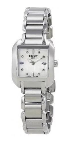 Relógio Tissot Feminino T-wave Diamantes Madre Pérola/aço