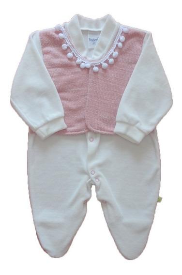 Macacão Plush Bebê Menina Promoção