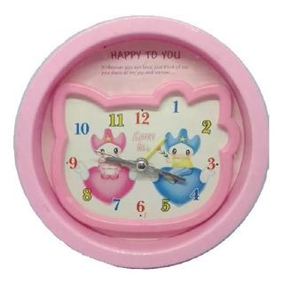Reloj Mesa Para Niña, Fondo 3d, Color Rosa. Entrega Ya!