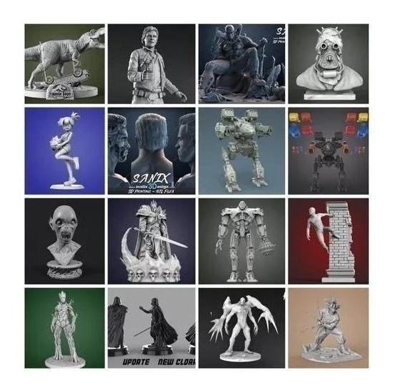 Todos Los Stl Pack Para Impresión 3d. 204 Gb Sanix Gambody