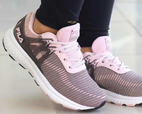 Tenis Fila Women Footwear Fastflow 51j625x Rosa Claro/cinza