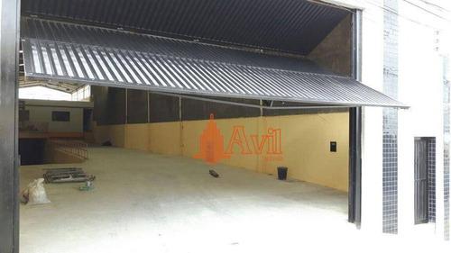 Galpão Para Alugar, 1100 M² Por R$ 17.000,00/mês - Vila Alpina - São Paulo/sp - Ga0231