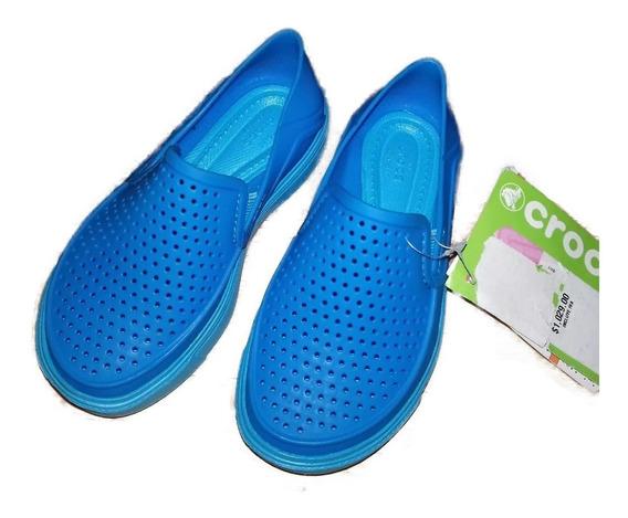 Crocs Azules Para Niño Originales C10 17cm