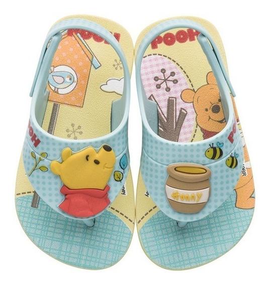 Sandália Pooh Disney Cute Fun Amarelo 22137