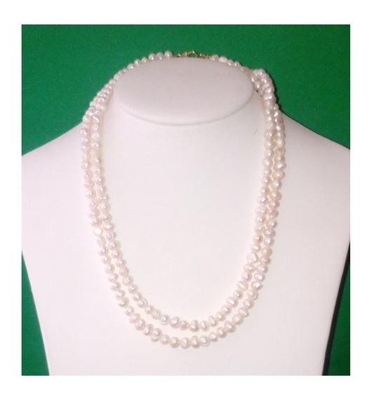 Collar 1 Metro Perla Cultivada Barroca Pulsera Aretes A057