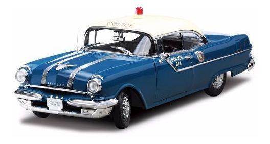 1955 Pontiac Star Chief Policia - Escala 1:18 - Sun Star