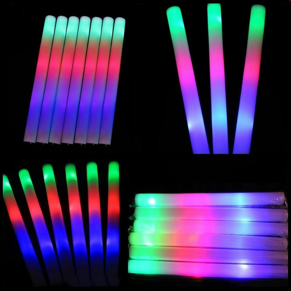 Rompecocos X25 Led Barras Goma Espuma Luminosa Multicolorr