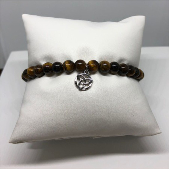 Bracelet Olho De Tigre + Nó Celta