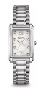 Reloj Bulova Diamond 96p157 Mujer Original Agente Oficial