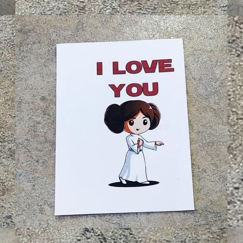 Imagen 1 de 7 de Tarjetas De San Valentín:   Star Wars I Love You