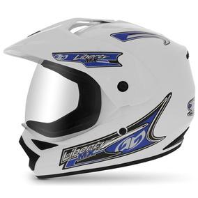 Capacete Moto Pro Tork Liberty Mx Pro Vision 58 Branco