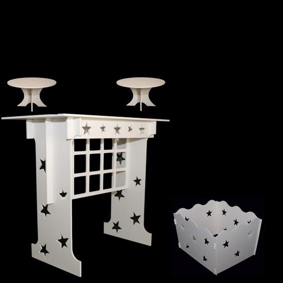 Mesa+01 Caixa De Presente Estrelas+02 Porta Doce Pintados!