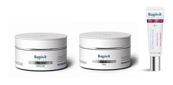 Bagovit Facial Pro Estructura Dia+ Noche+ Contorno De Ojos