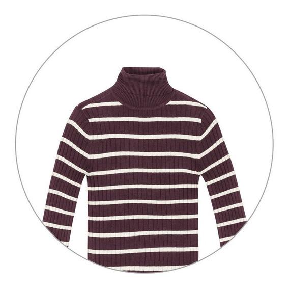 Blusão Fem Básico Em Tricô Com Gola Alta Hering - 324kovw
