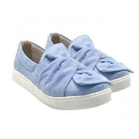 f22003f05 Tenis Com Laço Em Cima Feminino - Sapatos Azul no Mercado Livre Brasil