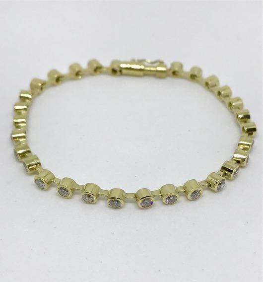 Glitter Joias - Pulseira Riviera Ouro E 348 Pontos Diamantes