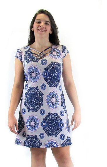 Vestido Soltinho Manga Babados Barato Floral Tribal Cigana