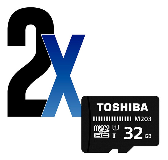 Cartão De Memória 32gb Microsdhc 100mb/s Toshiba 2un