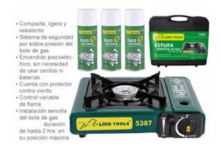 Estufa Portátil Gas Campismo Cocina Chef 3 Lata + Env Gratis