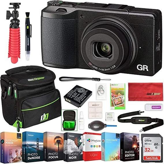 Camara Ricoh Gr Ii 16.2 Mp Digital Wi-fi Bundle Photo Y Vi ®