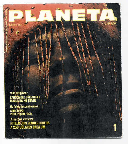 Luc024 Revista Planeta Nº 1 - Editora 3 - Setembro 1972