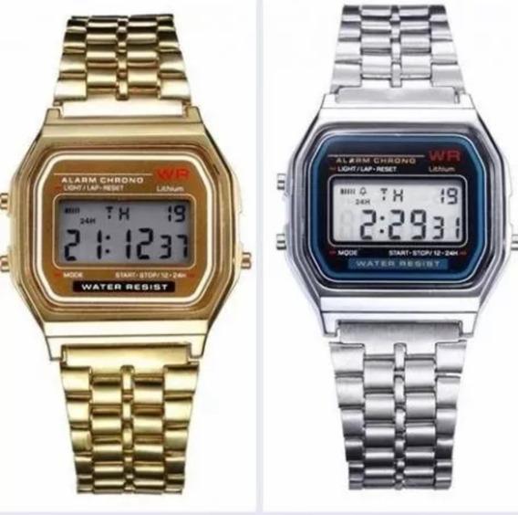 Relógio Digital Com Luz E Alarme E Cronômetro E Caixa