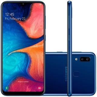 Smartphone Samsung Galaxy A20 32gb Tela 6.4 Câmera Azul