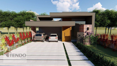 Imagem 1 de 4 de Imob04 - Casa 229 M² - Venda - 3 Dormitórios - 3 Suíte - Alphaville Nova Esplanada - Votorantim/sp - Ca0644