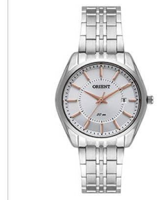 Relógio Orient Feminino 36 Mm Prateado Fbss1144 S1sx Quartz