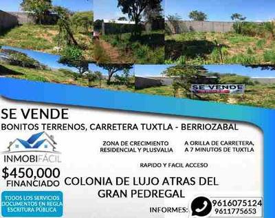 Terreno En Venta En Carretera Libre A Berriozabal
