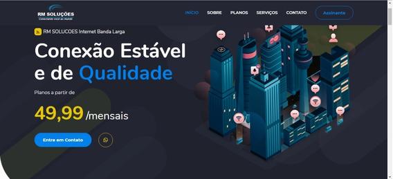 Tema Site Provedor Internet+painel Admin+suporte Instalação