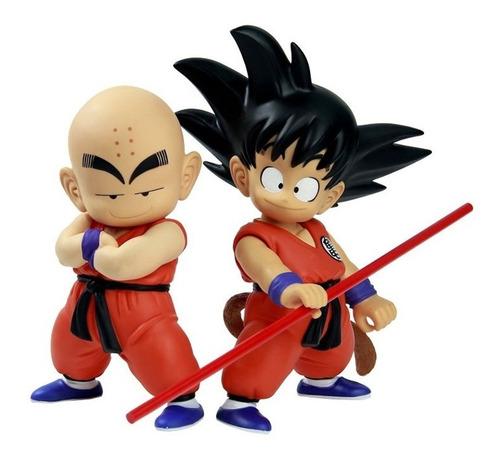 Goku Krilin Pack Set Figura Muñeco Anime Dragon Ball 21 Cm