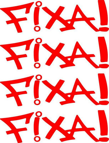 Adesivo Fixa! Kit Com 4 Unidades - Alta Qualidade - 17 Cores