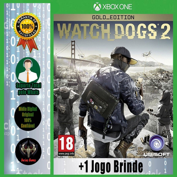 Watch Dogs 2 Ed. Gold Xbox One Midia Digital +1 Jogo Brinde