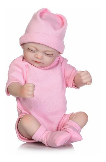 Boneca Bebê Reborn 25cm Princesa Silicone Presente Criança