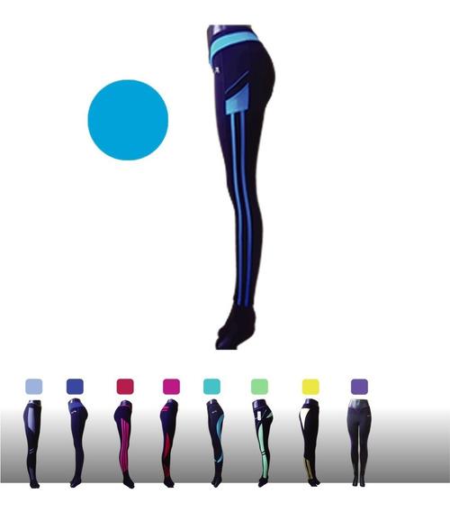 Leggins Deportivos Dama Varios Colores Lykra Unitalla Mallon