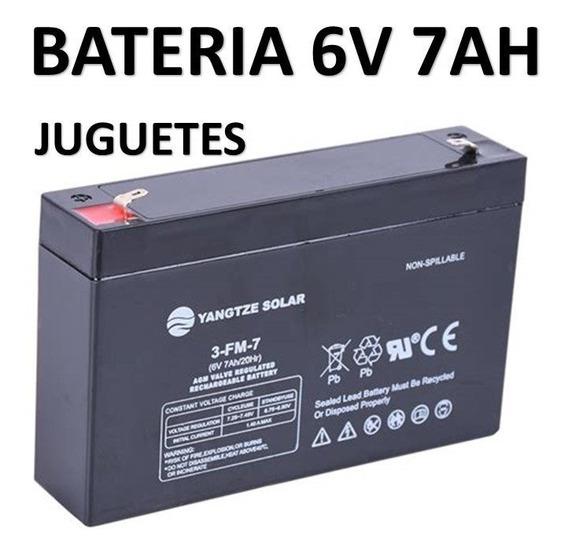 Bateria De Gel 6v 7ah Juguetes 3-fm-7 Recargable