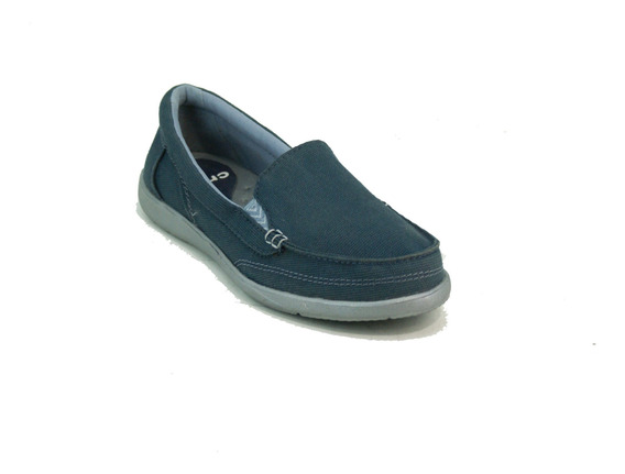 Mocasin Crocs Walu Ii Canvas Azul Dama Deporfan