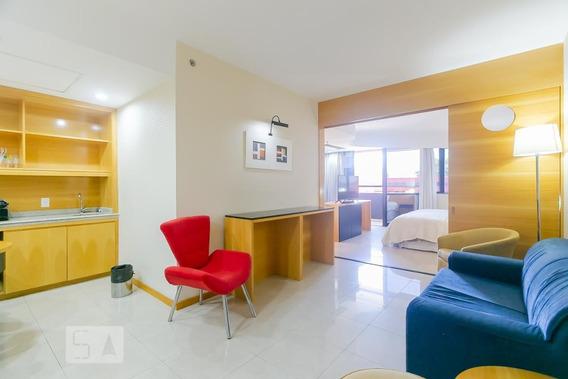 Apartamento No 4º Andar Mobiliado Com 1 Dormitório - Id: 892954473 - 254473