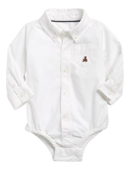 Body Camisa Manga Comprida Gap Baby Infantil Original Menino