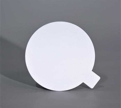 Disco Plastificado Ppm Blanco Mate D. 12 Cm Con Pestaña (x 100 U.) - Bauletto