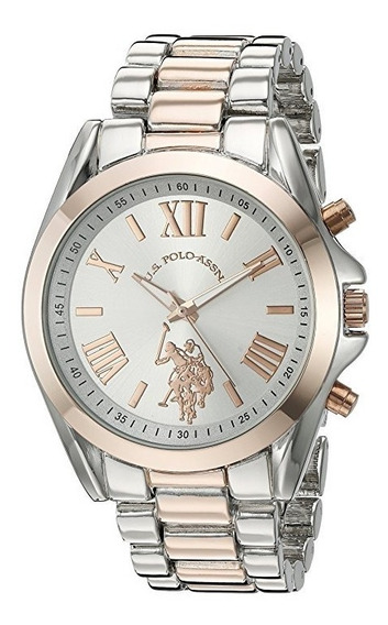 Reloj De Mujer Polo Modelo: Usc40118 Plata Y Dorado