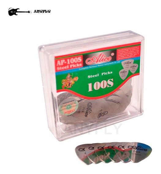 10 Palhetas De Aço Inox Alice 0,3mm Para Baixo Guitarra Cavaquinho Ou Espatula Chave Para Celulares Tablets E Smartphone
